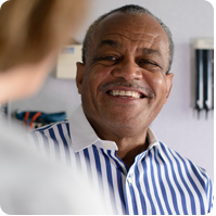 man smiling at provider image